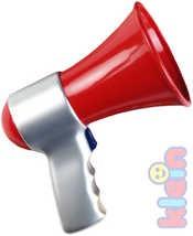 Dětský funkční megafon na baterie hasičský plast