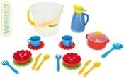 Kuchyňský set dětské nádobí v kyblíku plast