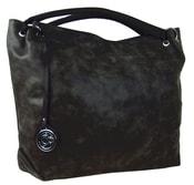 Velká kabelka do ruky z broušené kůže TH2009 černá