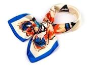 Saténový šátek 58x58 cm motýli