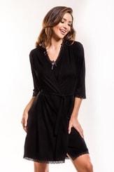Dámský župan Virginia gown black