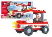 Stavebnice hasiči auto 58 dílů
