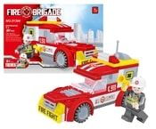 Stavebnice hasiči auto 91 dílů