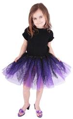 Sukně tutu čarodějnická/halloween fialová