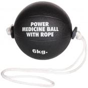 Medicine ball Power medicinální míč s lanem gumový