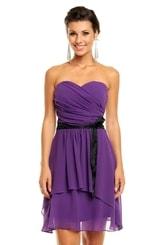 Společenské šaty fialové hs-sa492fi