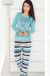 Dámské pyžamo - domácí úbor Dita petrolejová