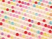 Samolepící perly na lepícím proužku Ø3 mm