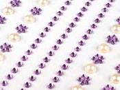 Samolepící dekorace kamínky a perly na lepícím proužku