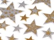 Samolepící hvězdy s glitry