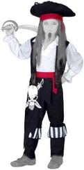 Karnevalový kostým PIRÁT vel. M (120-130 cm) 5-9 let