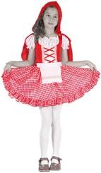 Karnevalový kostým ČERVENÁ KARKULKA vel. S (110-120 cm) 4-6 let