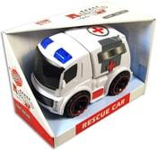Auto Ambulance sanitka plastová bílá se světlem a zvukem 24 cm