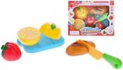 Sada kuchyňská plastová ovoce s doplňky na suchý zip 8ks