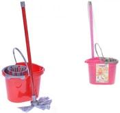 Mop na podlahu 54cm set s kbelíkem 2 barvy plast