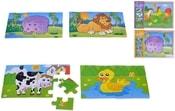 Dřevěné puzzle Zvířátka 4 druhy