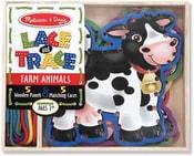 Provlékačka oboustranná Zvířátka FARMA set 5ks zvířátek s provázky