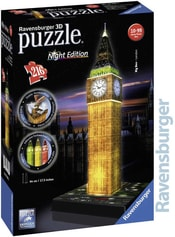 Puzzle 3D Big Ben noční edice na baterie Světlo 216 dílků