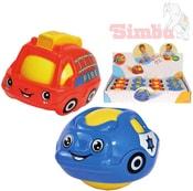 Baby autíčko do vody na zem s balonkem 2v1 policie / hasiči 2 druhy plast