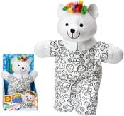 Vymaluj si svého medvídka 38cm kreativní set se 4 fixy v krabici