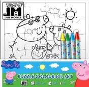 Omalovánky puzzle s voskovkami prasátko Peppa Pig