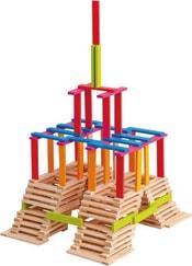 Dřevěné kostky Emma set 200ks v kyblíku