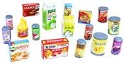 Potraviny a nápoje na hraní 17 ks