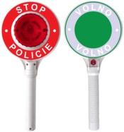 Zastavovací dětský plastový terč policie na baterie světlo