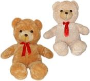 PLYŠ Medvěd velký s mašlí 105cm 2 barvy