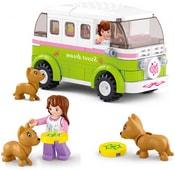 SLUBAN Stavebnice GIRLS obytný mini bus set 158 dílků + 5 figurek plast