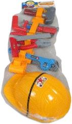 Malý kutil set nářadí v síťce 9ks s helmou a opaskem