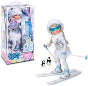 Panenka NANCY na lyžích zimní set na baterie lyžařka s doplňky