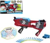 Pistole BC Boomco STEALTH ABBUSH Set Terč + 17 šipek