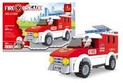 Stavebnice hasiči auto 94 dílů