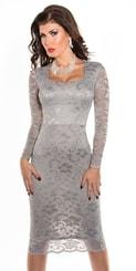 Dámské pouzdrové šaty in-sat1004gr