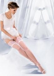 Punčochy samodržící svatební Princessa 04/188 Gabriella