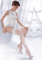 Punčochy samodržící svatební Princessa 09/193 Gabriella