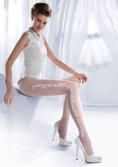 Punčocháče dámské svatební Charme 05/308 Gabriella