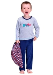 Dětské froté pyžamo s nápisem Boys