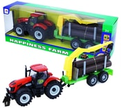 Traktor kovový s vlečkou, zvuk + světlo