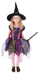 Kostým čarodějnice barevná vel. M