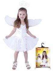 Kostým anděl + svatozář, 2 ks vel. S