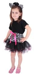 Kostým zebra - sukně + čelenka