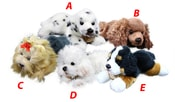 Plyšový pes ležící 17cm,5 druhů