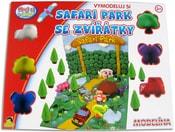 Modelovací hmota Safari park set 6 kelímků s doplňky plastelína