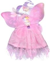 Kostým pro děti Šaty růžové princezna s křídly třpytivé