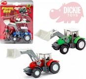 Traktor 13cm set s farmářem a slepicemi na kartě 3 barvy