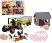 Farmářský set traktor s farmáři, domkem, zvířaty a doplňky 23ks plast