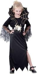 Karnevalový kostým ČERNÁ KRÁLOVNA vel. L (130-140 cm) 8-10 let