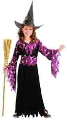 Karnevalový kostým Šaty Čarodějka vel. L (130-140cm) 8-10 let